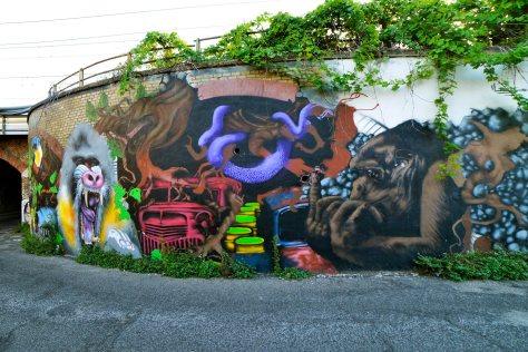 Street art a via del Mandrione