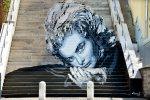 Murale con Ingrid Bergman