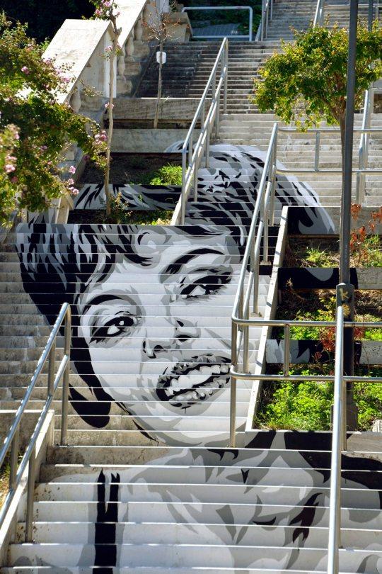 Murale con Michéle Mercier