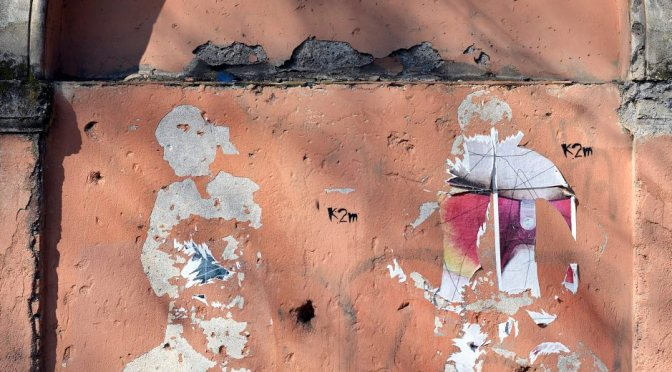 Graffiti, lungotevere Ripa, 2015