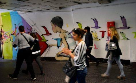 Metro Spagna. Murale di Seth