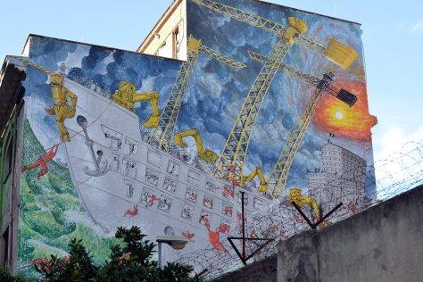 Murale di Blu