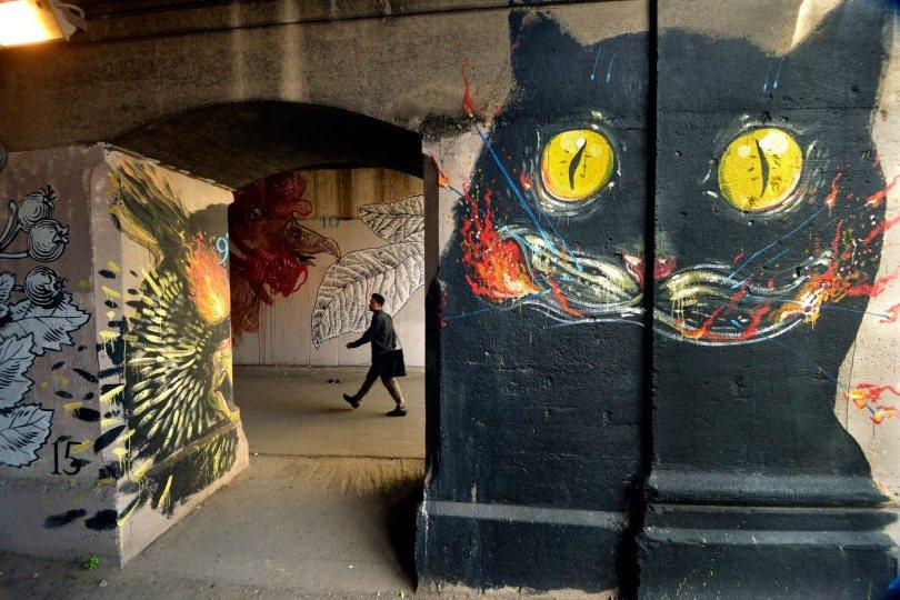 17/09/2013 Roma. Graffiti a via delle Conce, nel quartiere Ostiense
