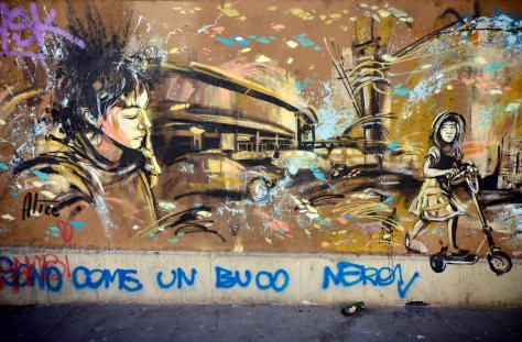 31/03/2015 Roma. San Lorenzo. Murali tra via dei Street Art, San Lorenzo