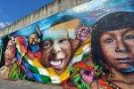Il murale ' Rivoluzione bolivariana
