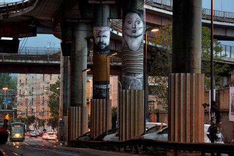 Murali sulla sopraelevata