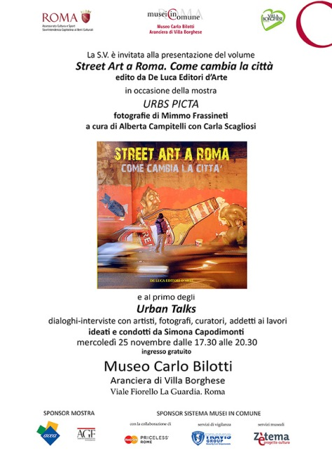 Invito Street Art a Roma  e Urban Talks