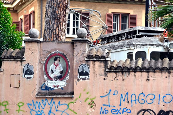 Roma Street Art. Salotto ottocentesco a via Ostiense