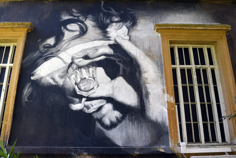 Street art murali di gomez al museo della mente urbs picta